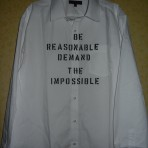 Be Reasonable  punk shirt / westwood / new wave / 1977