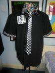 The Selecter black 2tone shirt and tie    Ska 79 special aka the beat